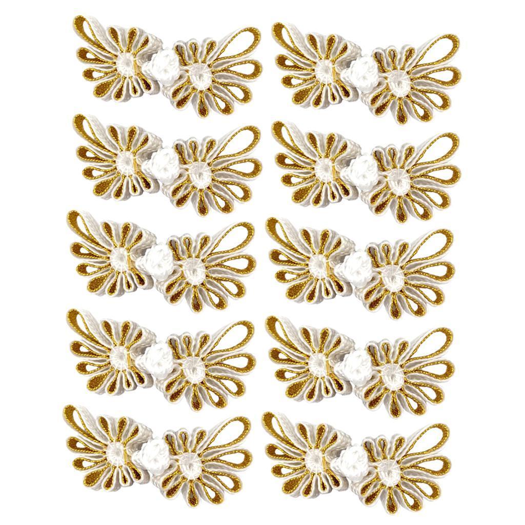 10-Pcs-Chinesischen-Knoten-Blumen-Design-Cheongsam-Schliessung-Frosch-Verschluss Indexbild 6