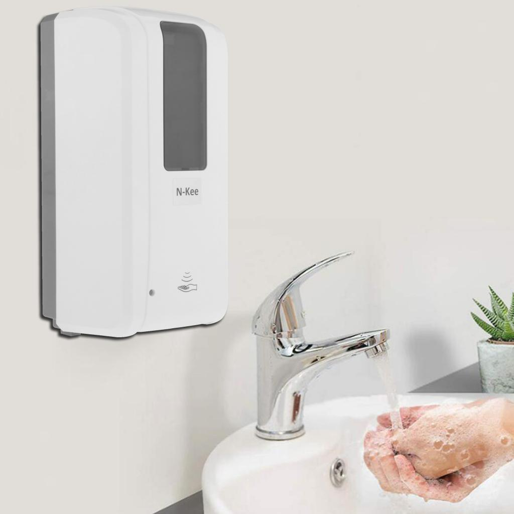Wall-Mounted-Automatic-IR-Sensor-Touch-Free-Soap-Dispenser-Spray-Liquid-for-Mall thumbnail 3