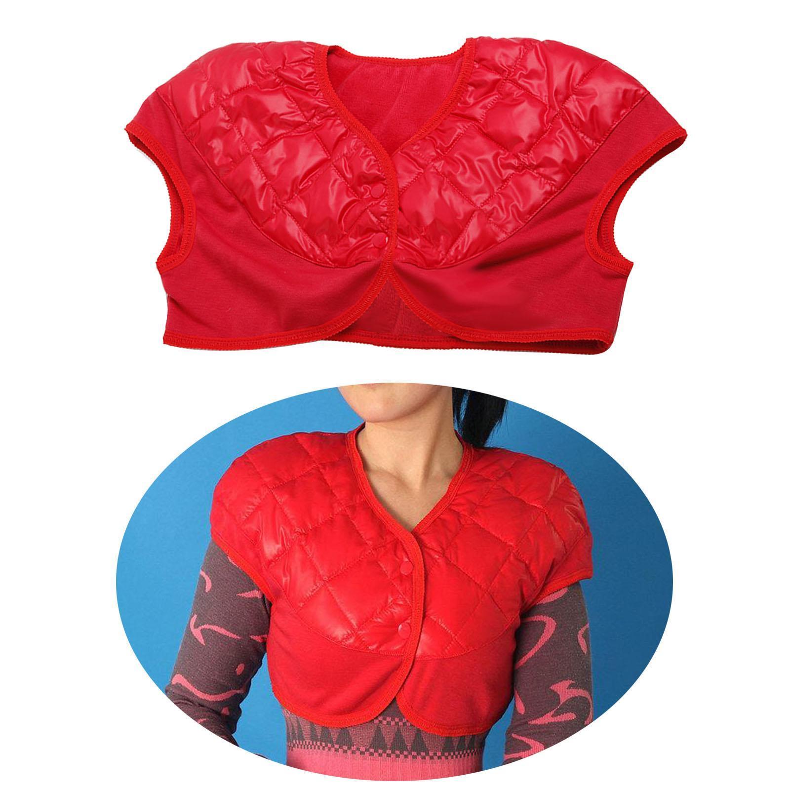 Femmes-Hommes-Down-Jacket-Chaud-Manteau-Court-Epaule-Chaud-Thermique-Wrap miniatura 80