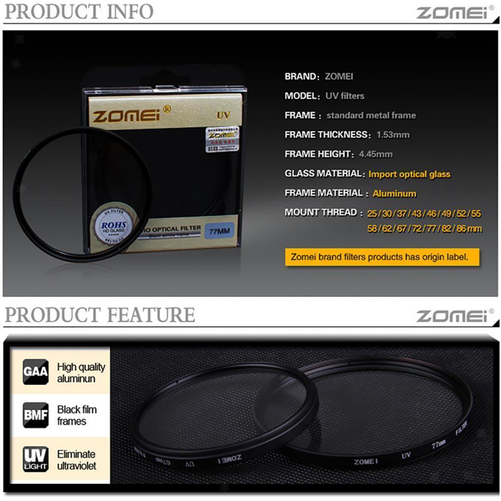 Digital-Ultra-Violet-Filter-Super-Slim-UV-Filter-for-Universal-Camera-Lens thumbnail 19