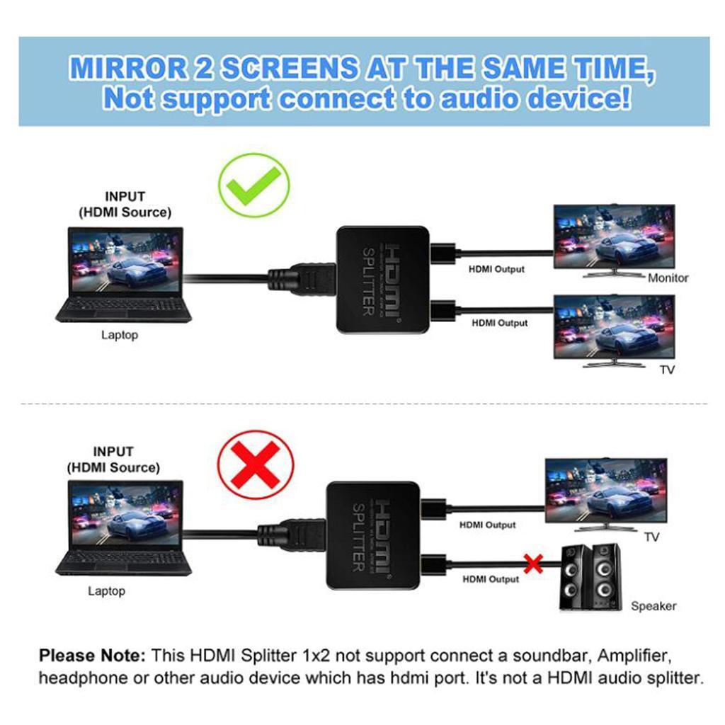 miniatura 7 -   Splitter 1 in 2 Out 4K 3D Amplificatore di Segnale per il Dual Monitor PS3