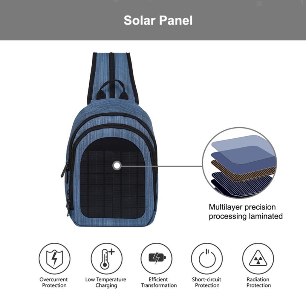 miniatura 26 - Con Cargador Solar mochila 2L para teléfonos inteligentes puerto de carga USB