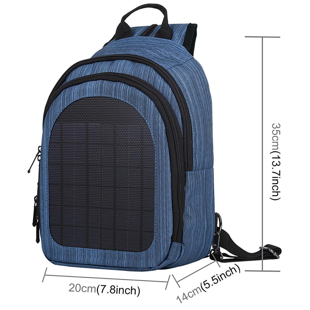 miniatura 25 - Con Cargador Solar mochila 2L para teléfonos inteligentes puerto de carga USB