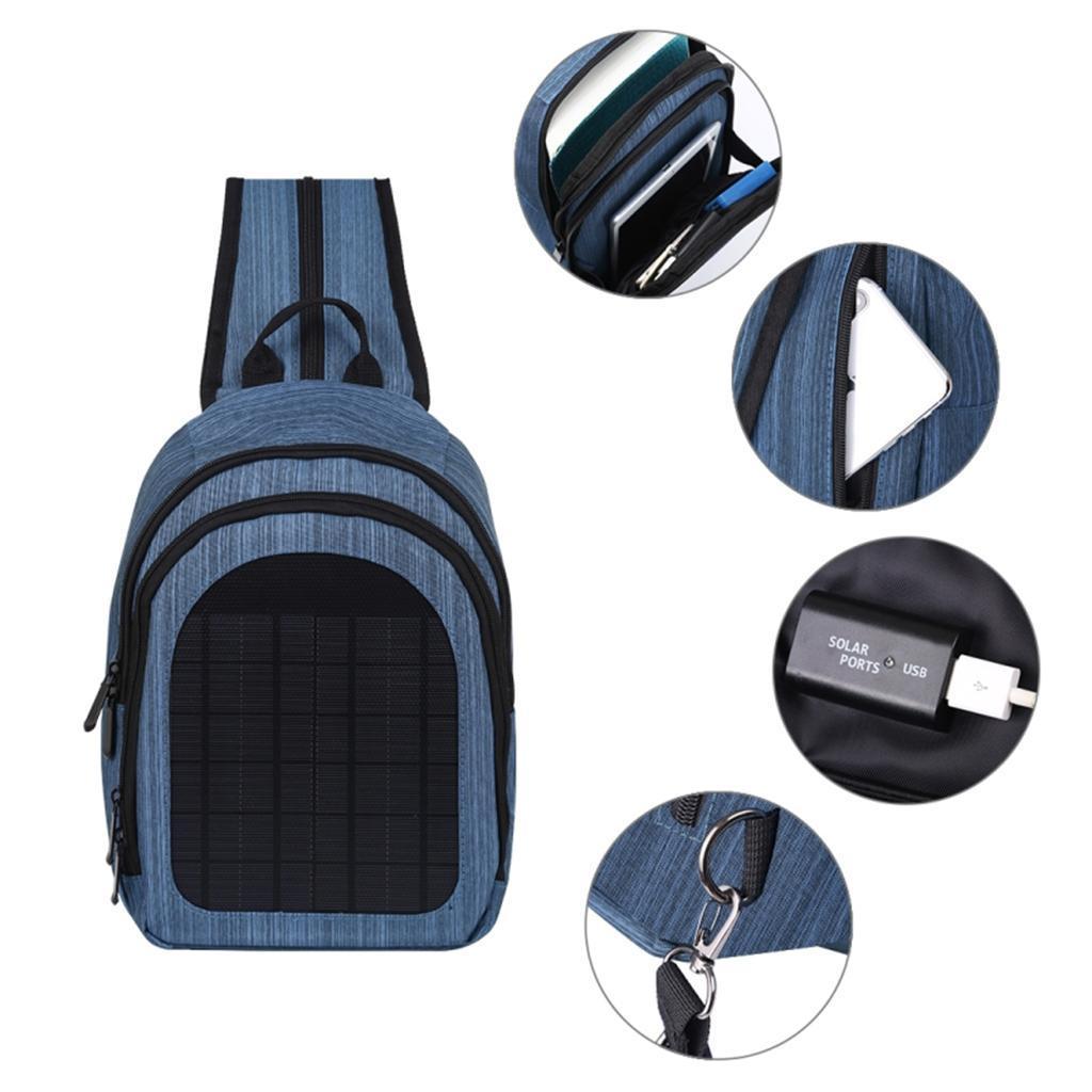miniatura 22 - Con Cargador Solar mochila 2L para teléfonos inteligentes puerto de carga USB