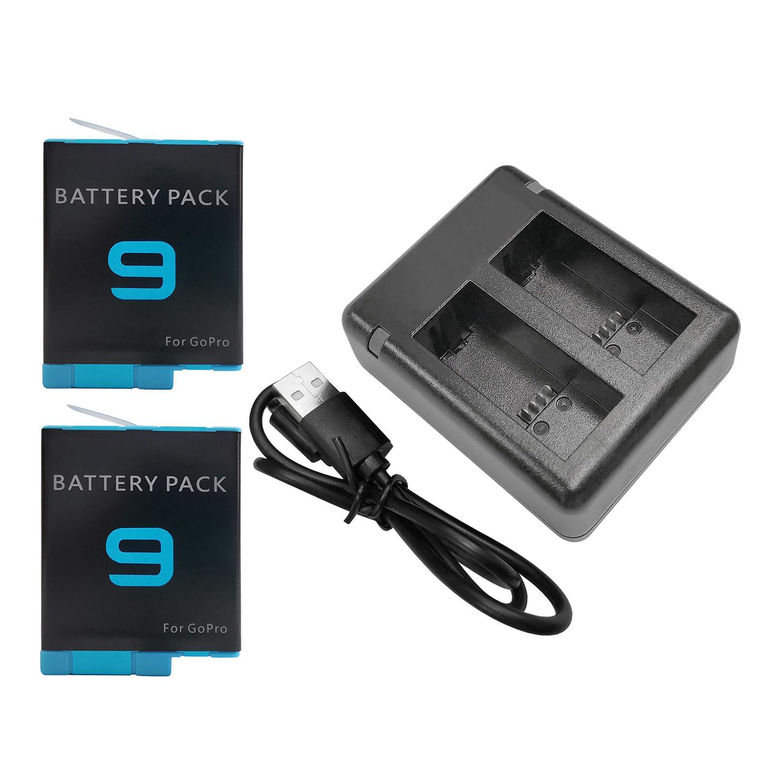 thumbnail 29 - Replace Batteries 1720mAh USB Quick Charger with Cord for   Hero 9 -Black