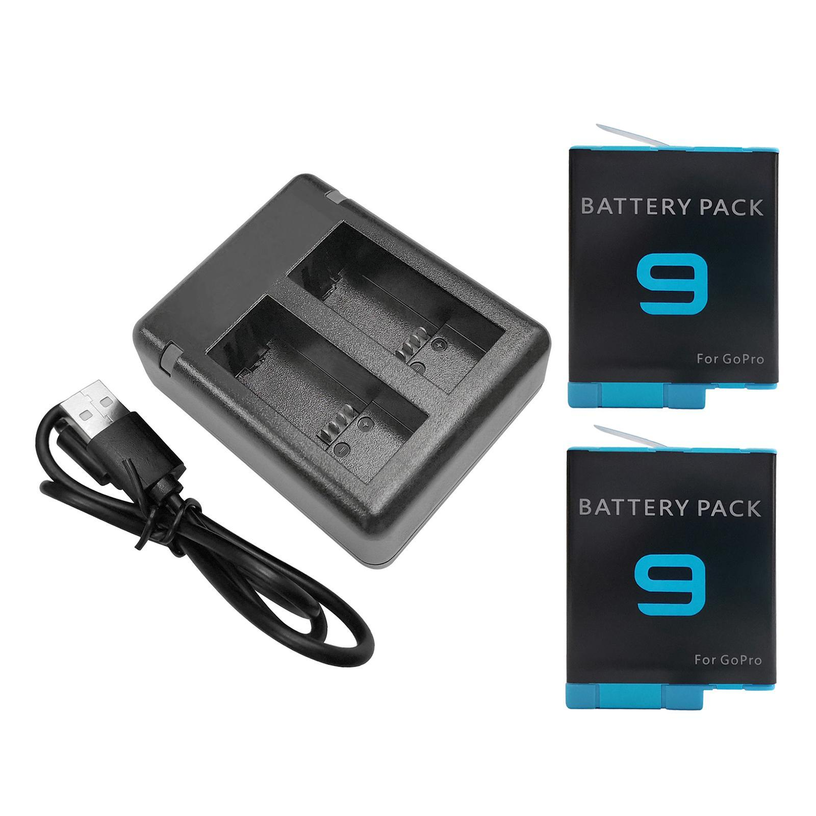 thumbnail 36 - Replace Batteries 1720mAh USB Quick Charger with Cord for   Hero 9 -Black