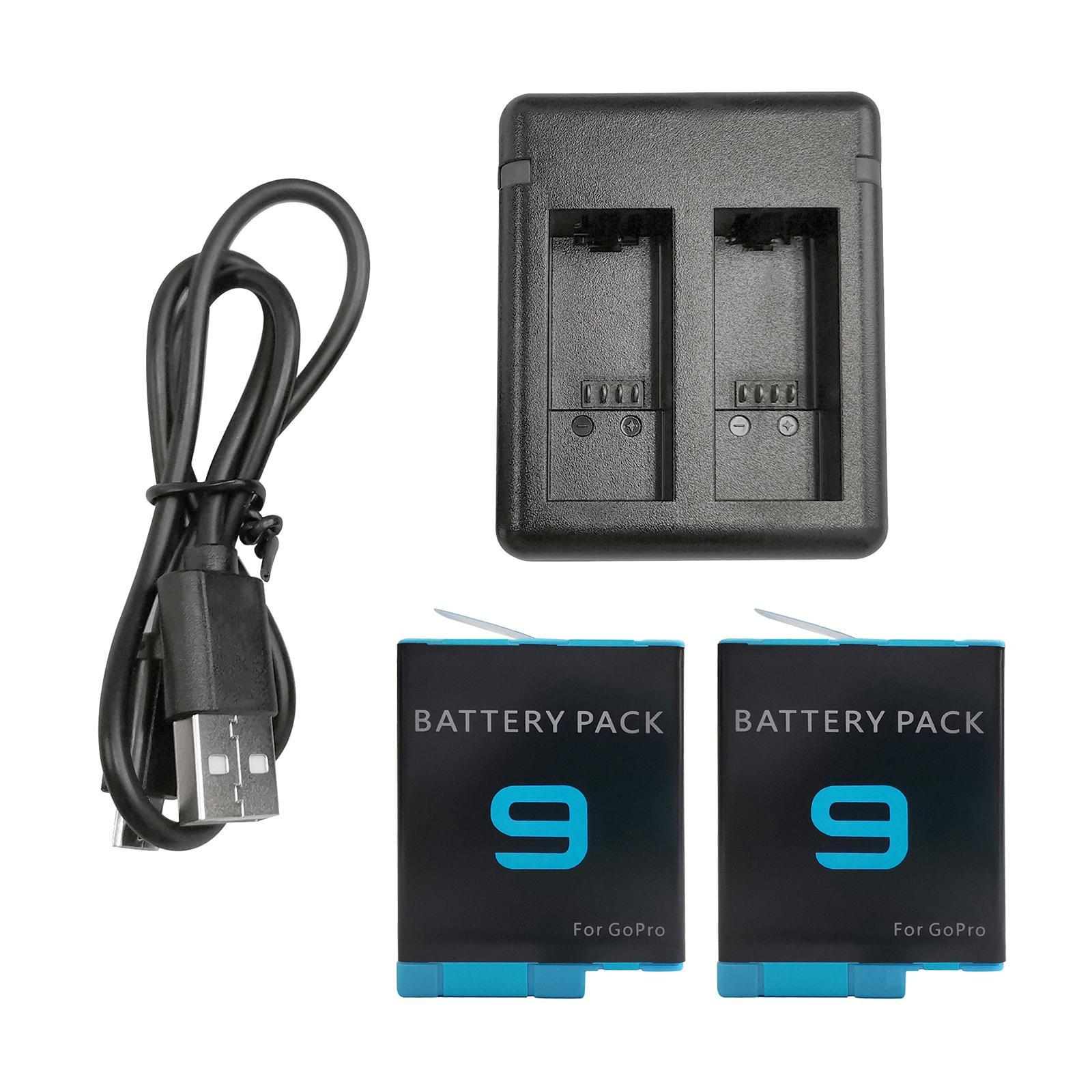 thumbnail 32 - Replace Batteries 1720mAh USB Quick Charger with Cord for   Hero 9 -Black