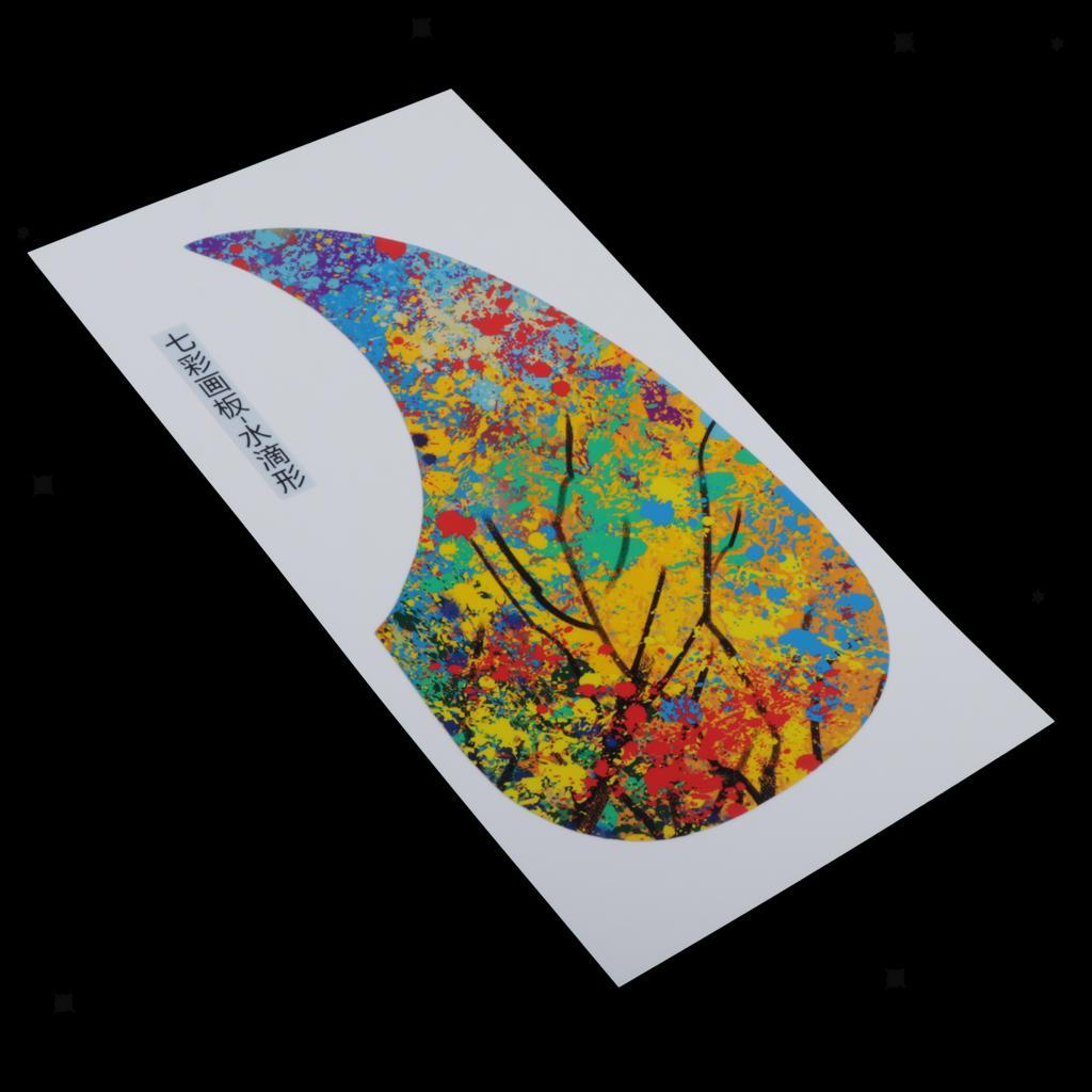 Plastic-Acoustic-Folk-Pick-Guard-Adhesive-Decal-Stickers-Parts-DIY-Accessory miniature 41