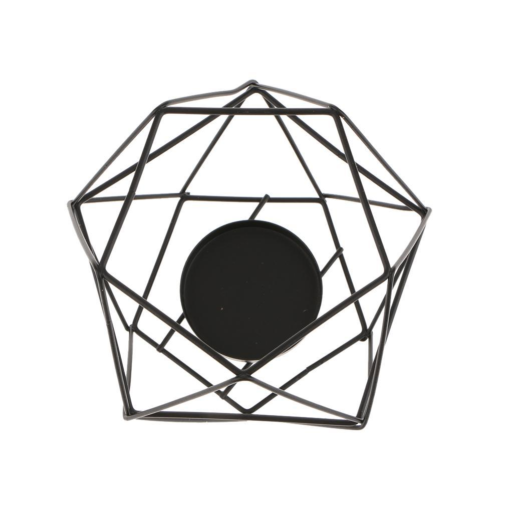 Lovoski-Wedding-Wire-3D-Geometric-Tealight-Candle-Holder-Candelabra-Candlestick thumbnail 16