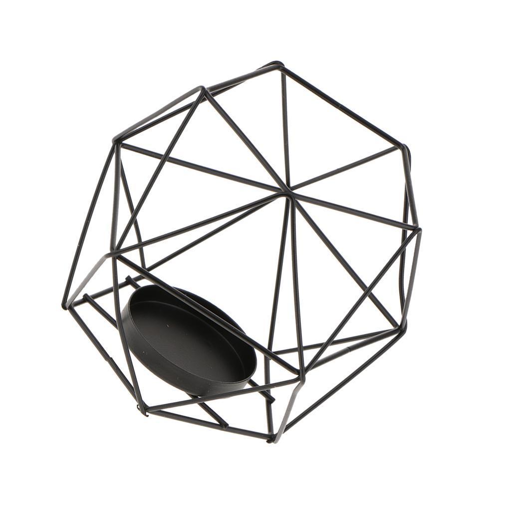 Lovoski-Wedding-Wire-3D-Geometric-Tealight-Candle-Holder-Candelabra-Candlestick thumbnail 17