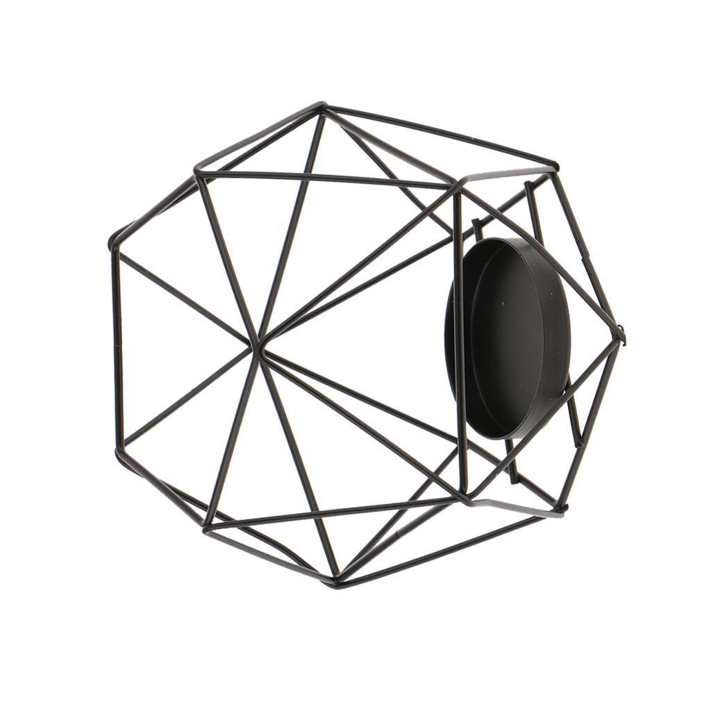 Lovoski-Wedding-Wire-3D-Geometric-Tealight-Candle-Holder-Candelabra-Candlestick thumbnail 18