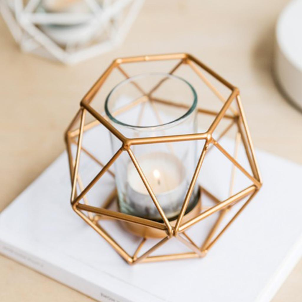 Geometric-Candle-Holder-Iron-Wire-Pillar-Stand-Decor-Centerpieces-Candlestick thumbnail 7