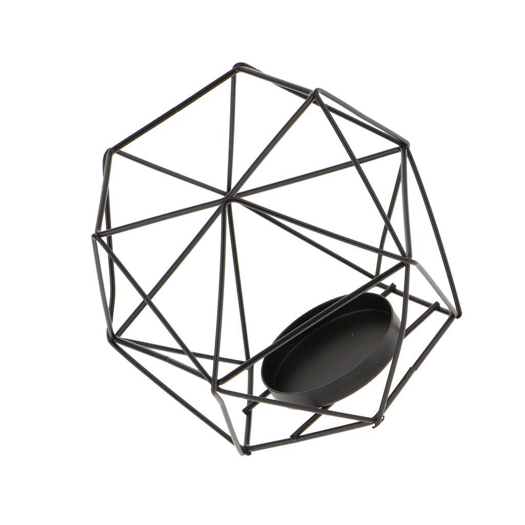 Lovoski-Wedding-Wire-3D-Geometric-Tealight-Candle-Holder-Candelabra-Candlestick thumbnail 15