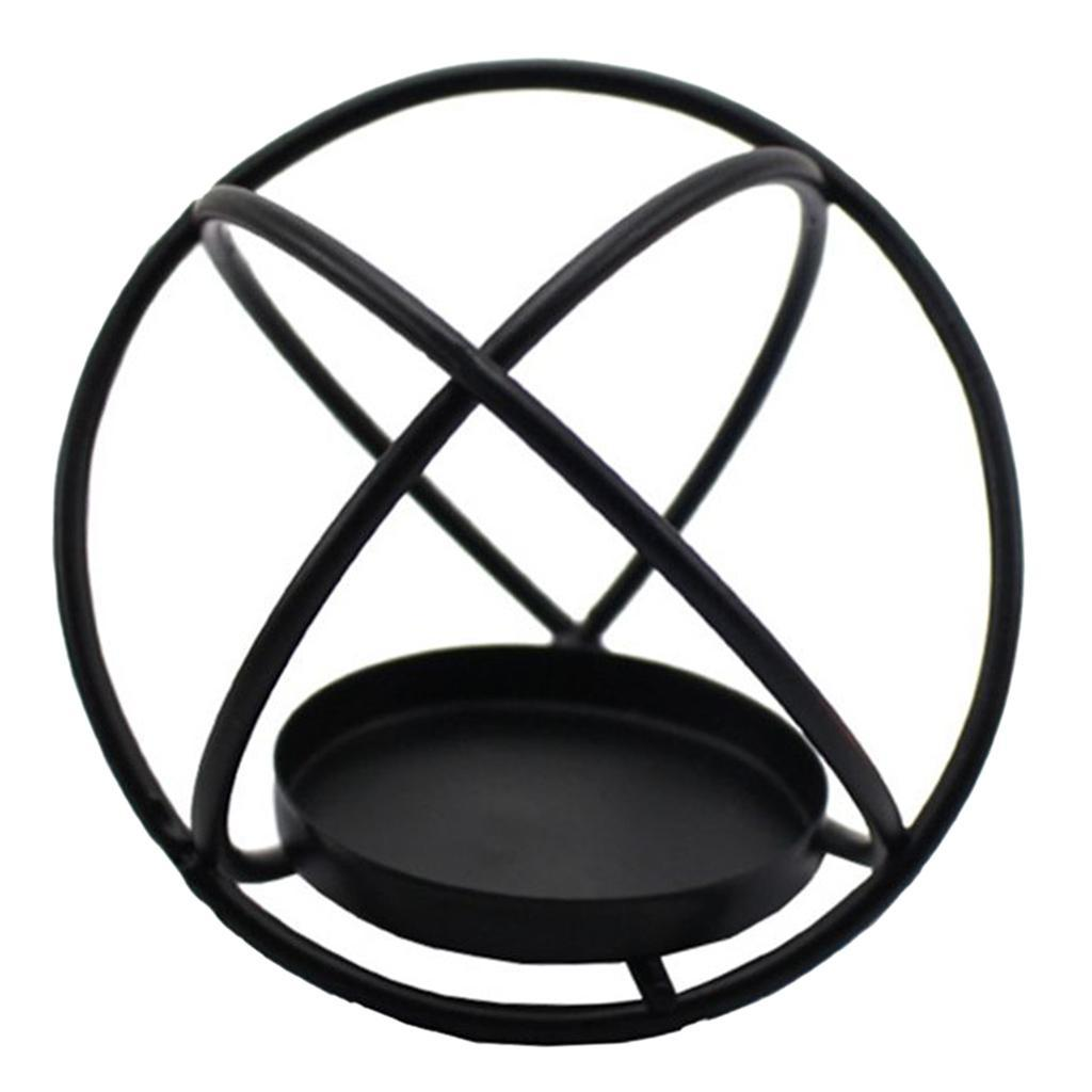 Geometric-Candle-Holder-Hollowed-Tea-Light-Holder-With-Candle-Cup-Black thumbnail 6