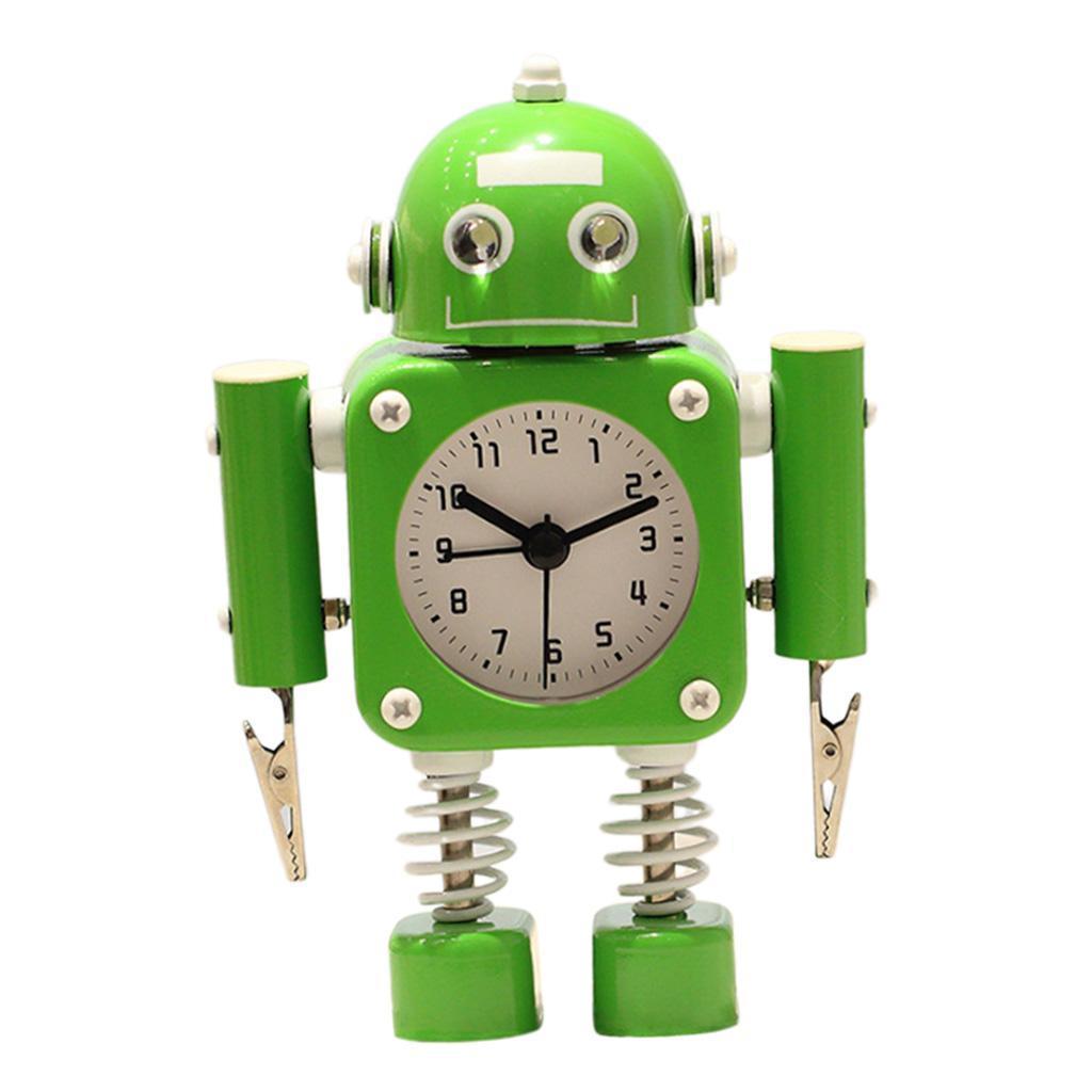 Robot-Del-Fumetto-Non-Ticchettio-Sveglia-Da-Comodino-Camera-Da-Letto-Di-Casa miniatura 9