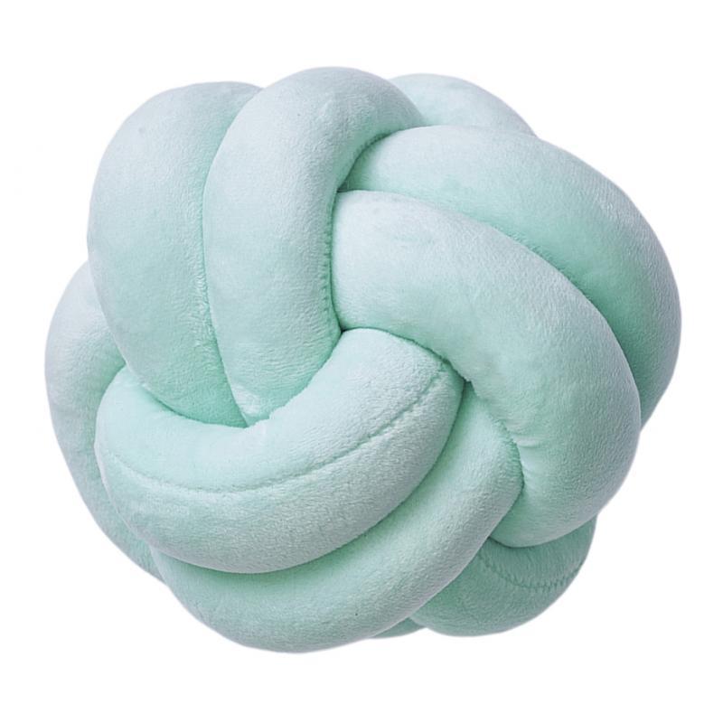 Cuscino-con-nodo-palla-grosso-cuscino-fatto-a-mano-peluche-annodato-cuscino-di miniatura 6