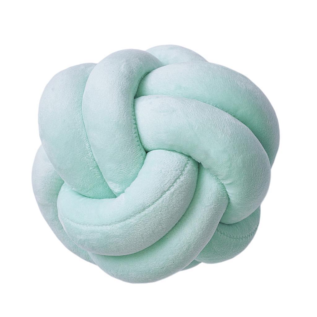 Cuscino-con-nodo-palla-grosso-cuscino-fatto-a-mano-peluche-annodato-cuscino-di miniatura 5