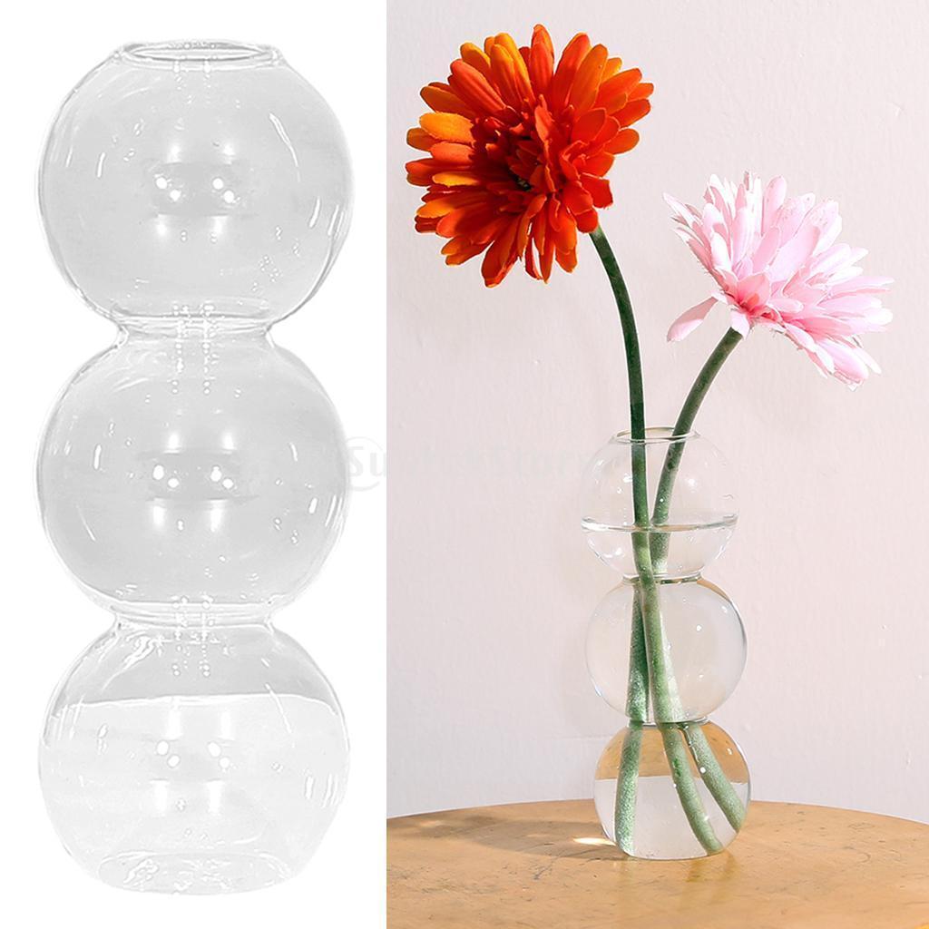 Indexbild 9 - Glasrohr Vase Holzständer Blumentöpfe Hydroponik Pflanze   Dekoration