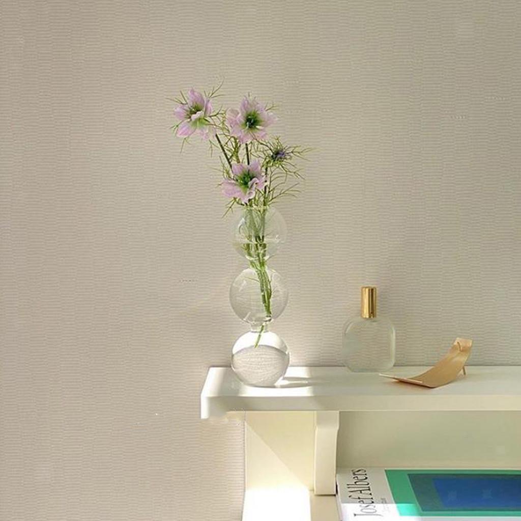 Indexbild 10 - Glasrohr Vase Holzständer Blumentöpfe Hydroponik Pflanze   Dekoration