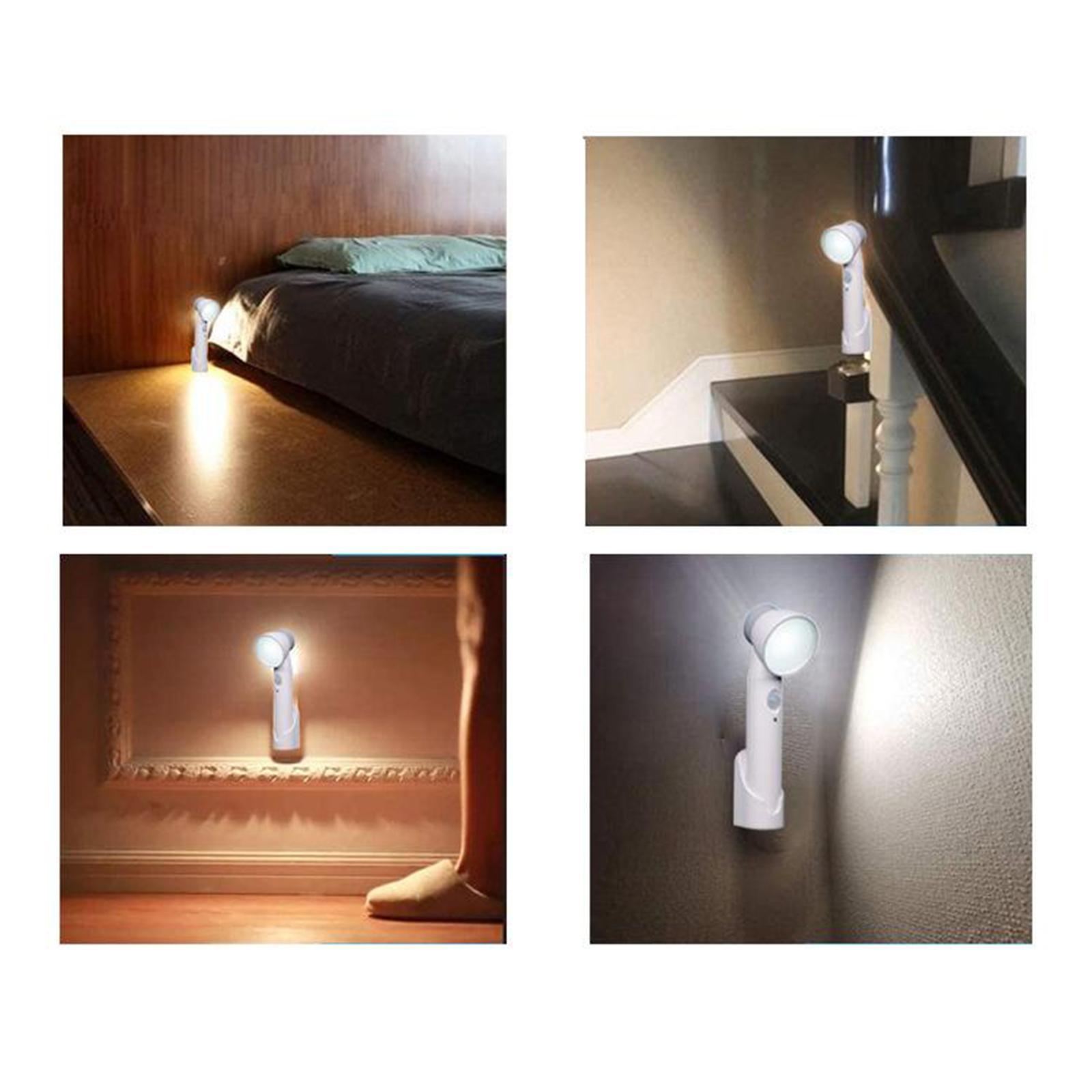miniatura 7 - Luce-notturna-4W-Casa-Camera-da-letto-Corridoio-Lampada-di-sicurezza-Sensore-di