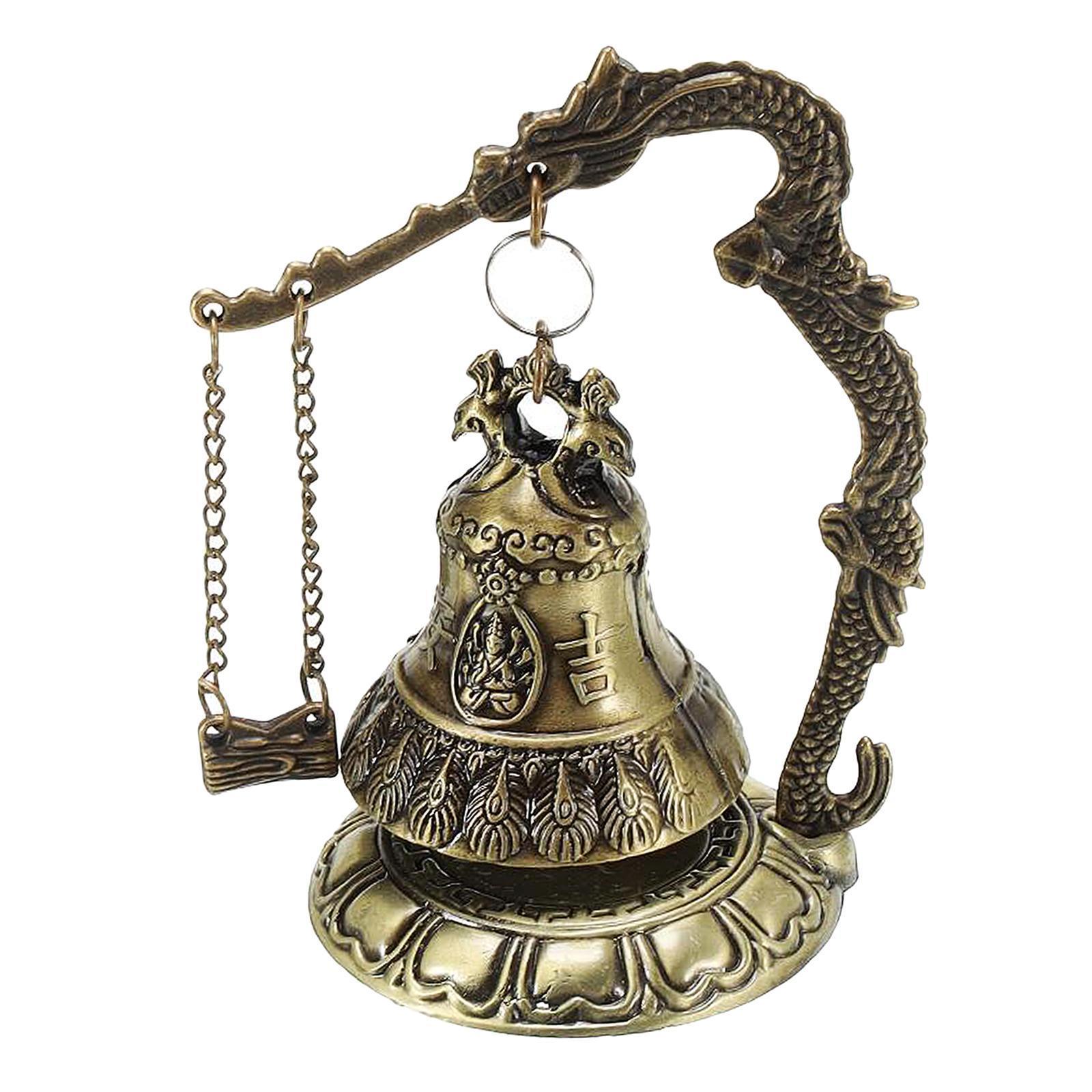 miniatura 54 - Buddha Drago Fengshui campana giocattoli tibetano per Home GIARDINO