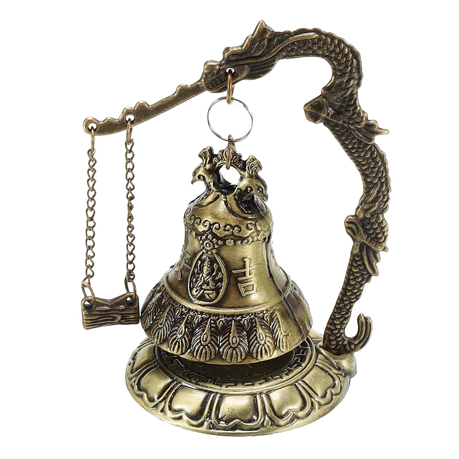 miniatura 55 - Buddha Drago Fengshui campana giocattoli tibetano per Home GIARDINO