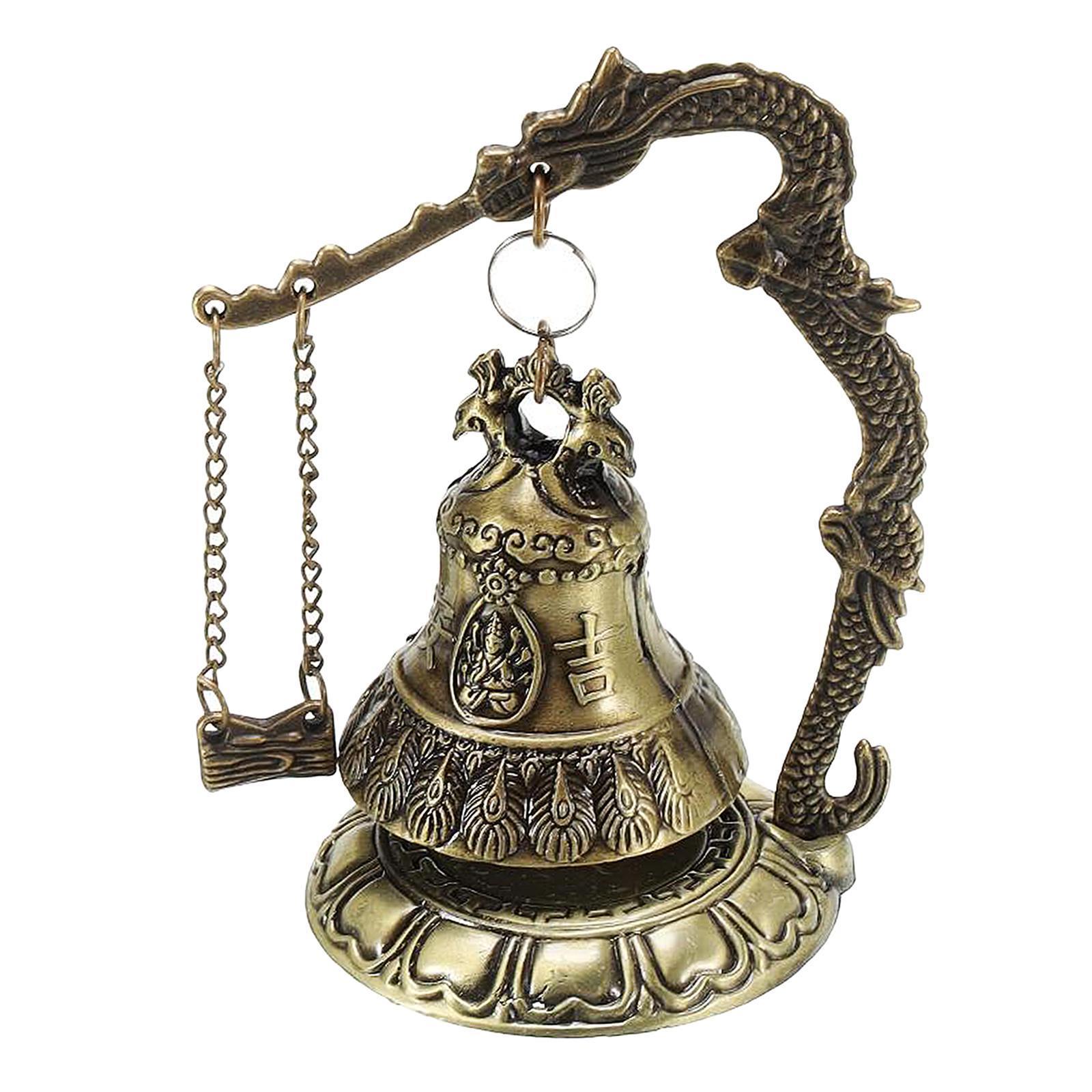miniatura 57 - Buddha Drago Fengshui campana giocattoli tibetano per Home GIARDINO