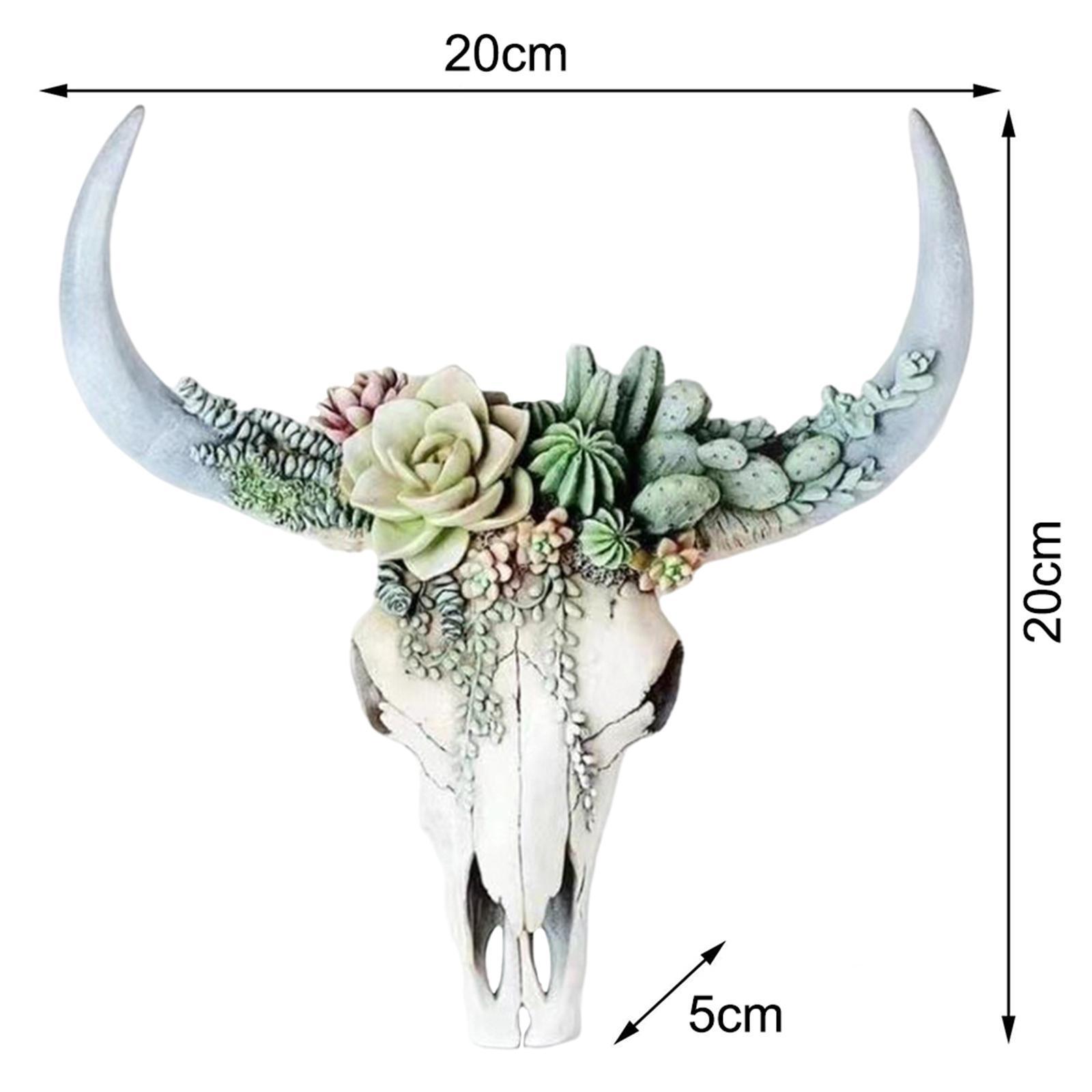 miniatura 9 - Longhorn Appeso A Parete Scultura Vivid Testa di Animale Opere D'arte
