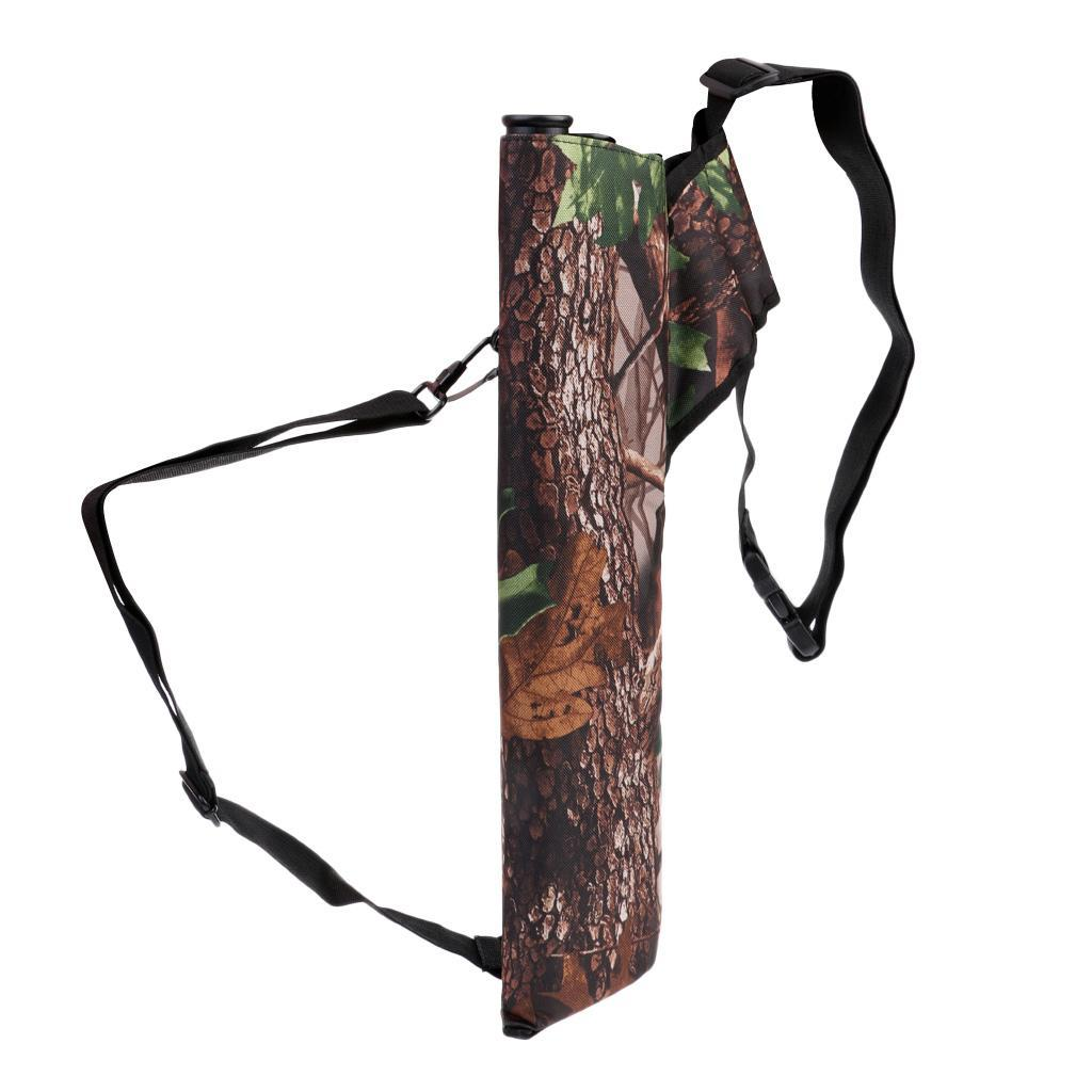 thumbnail 8 - Outdoor-Archery-Bow-Arrow-Holder-Bag-Waist-Belt-Back-Quiver-3-Tubes-for-Hunting