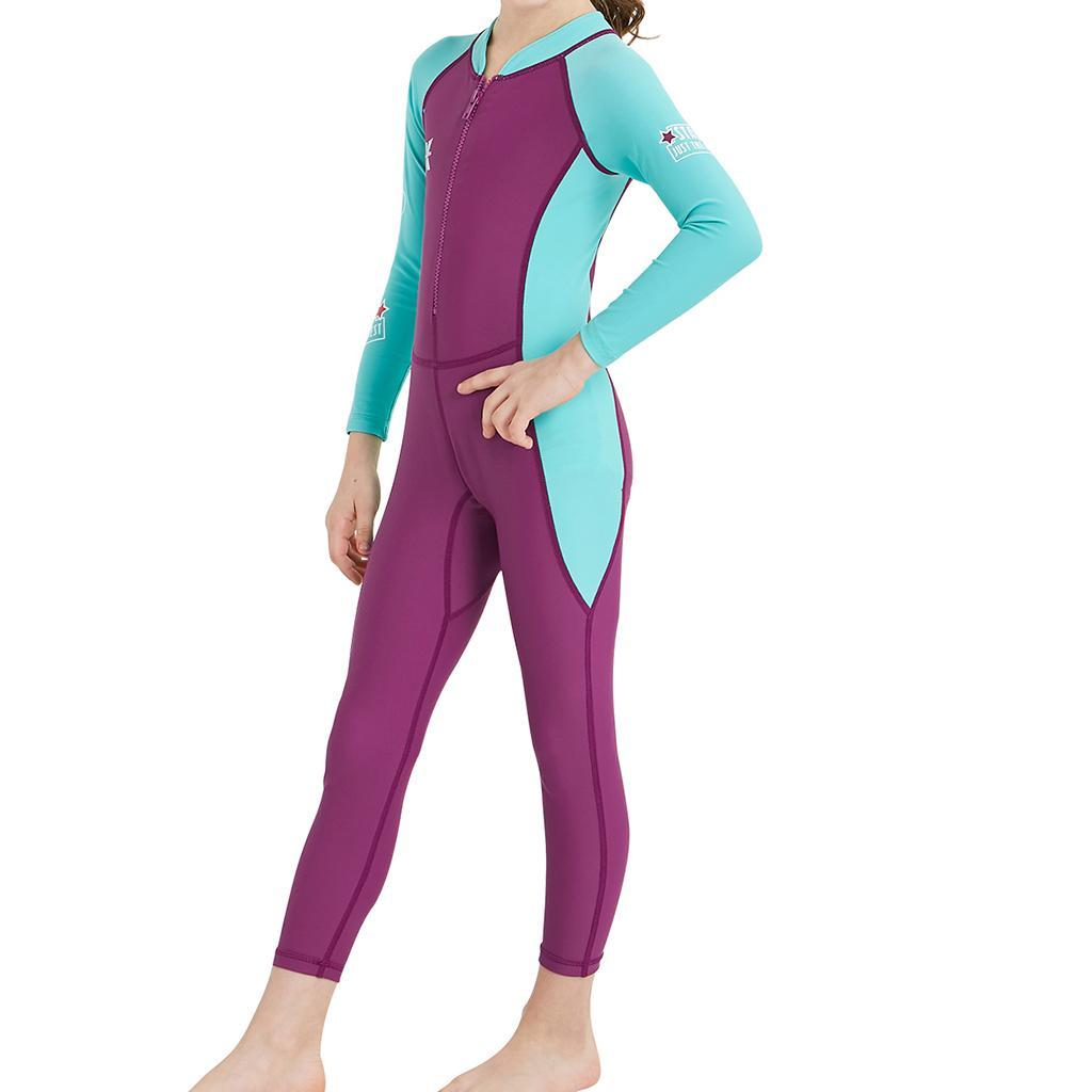 Children-Long-Sleeve-Swimsuit-Sun-Protective-Swimwear-Diving-Zip-Wetsuits thumbnail 15