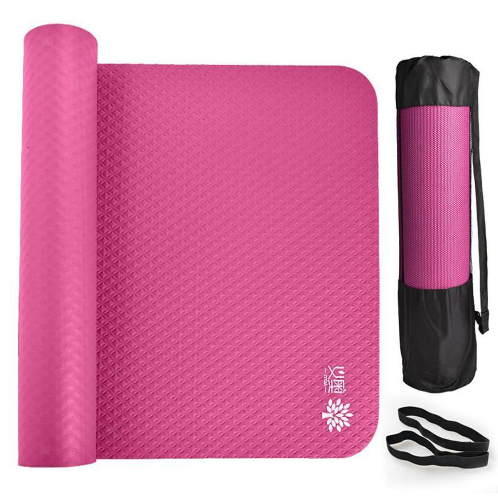 Tapis-de-Yoga-Fitness-185x8-0cm-15mm-Epais-NBR-Antiderapant-Securite-de miniature 5