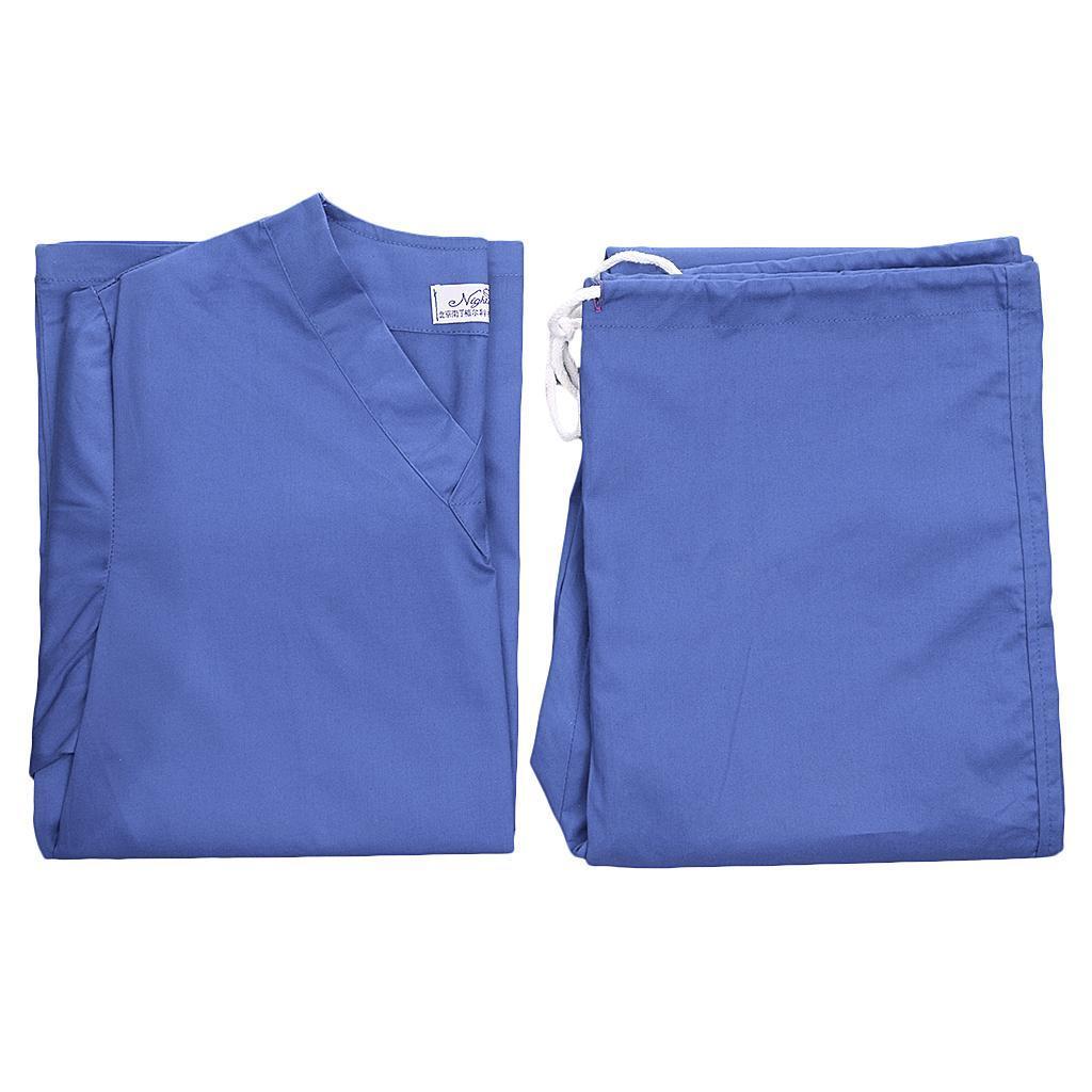 Men-Women-Scrub-Sets-Medical-Spa-Nursing-Clinic-Hospital-Uniform-Top-Pants miniature 18