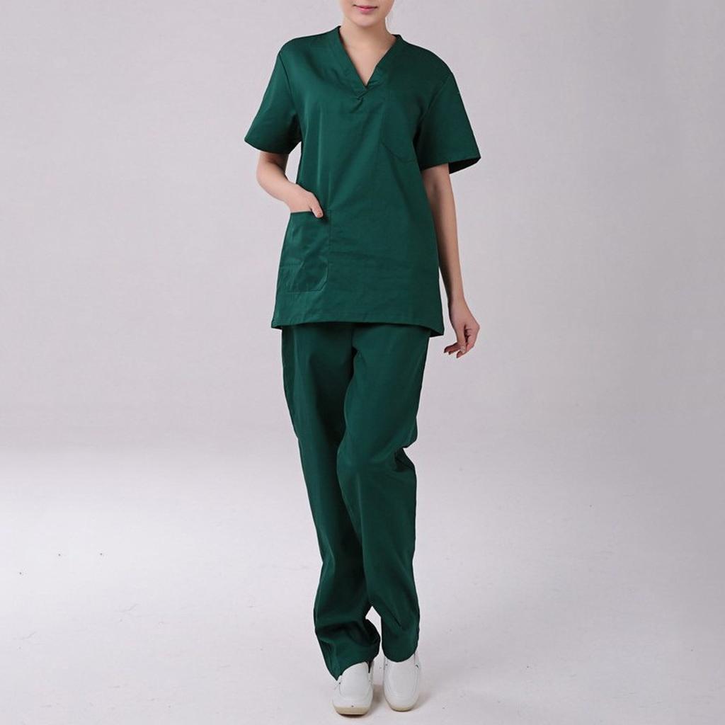 Men-Women-Scrub-Sets-Medical-Spa-Nursing-Clinic-Hospital-Uniform-Top-Pants miniature 46
