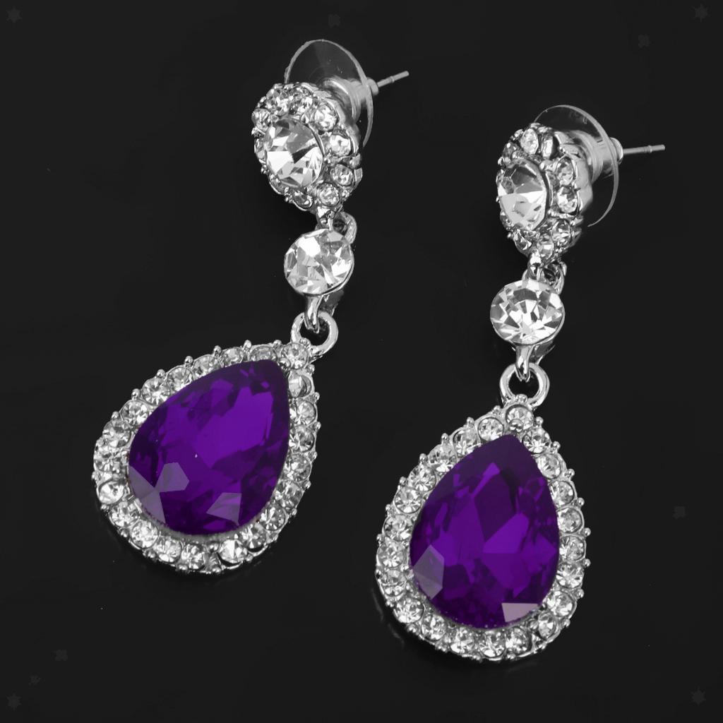 miniatura 6 - Orecchino con strass in cristallo a goccia per gioielli da ballo per feste