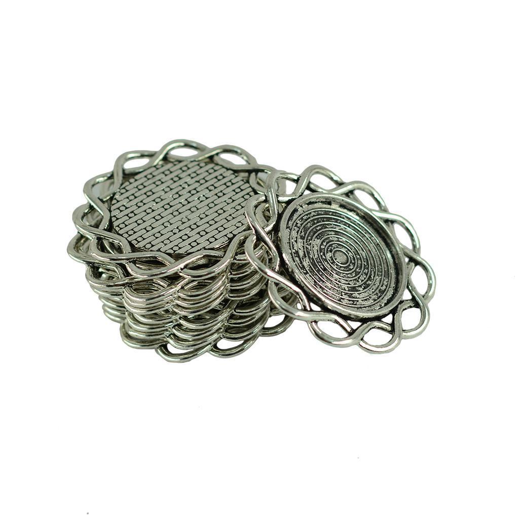 20x-Flor-De-Aleacion-Vintage-Connector-Colgante-Fabricacion-de-Joyas miniatura 4