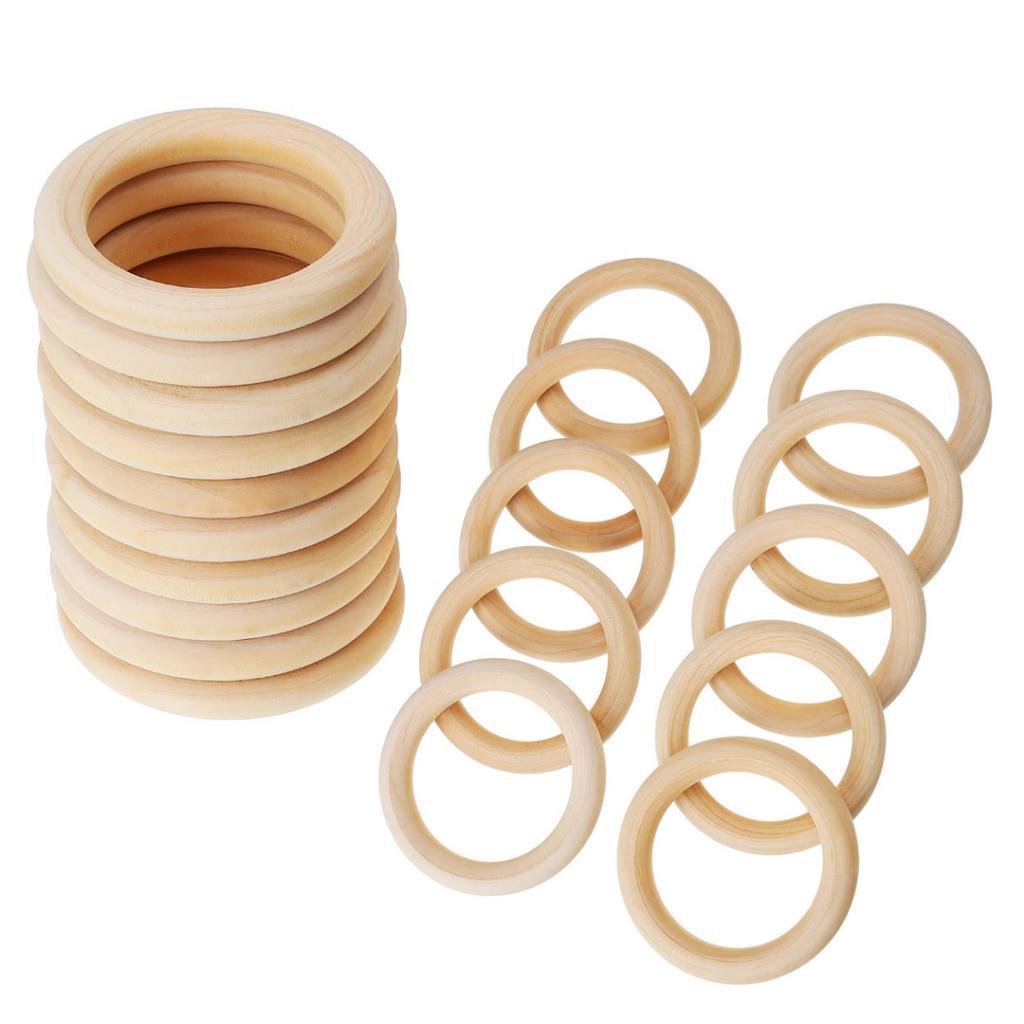 20Pcs-Multifunction-DIY-Teether-Rings-Wooden-Teething-Rings-for-Toddler-Toys thumbnail 9