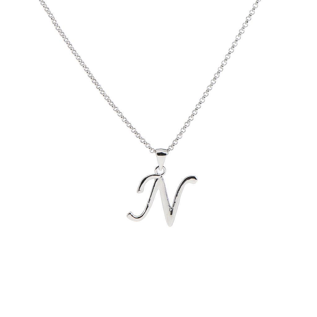 A-Z-Alphabet-Initial-Letter-Pendant-Necklace-Chain-Choker-Jewelry-Men-Women thumbnail 44