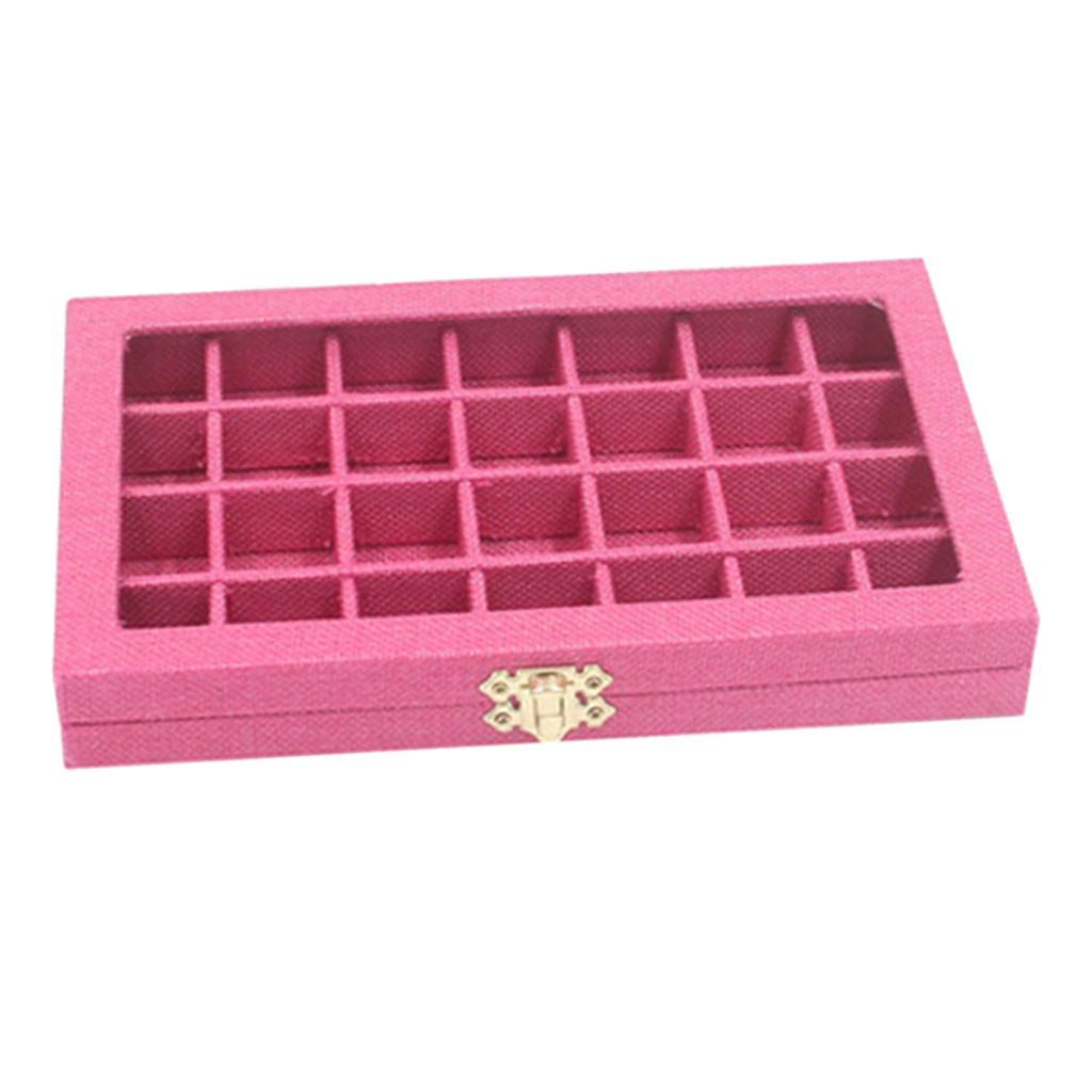 Plateau-a-Bijoux-en-Lin-Organisateur-de-Bijoux-Multifonctionnel-Excellent miniature 15