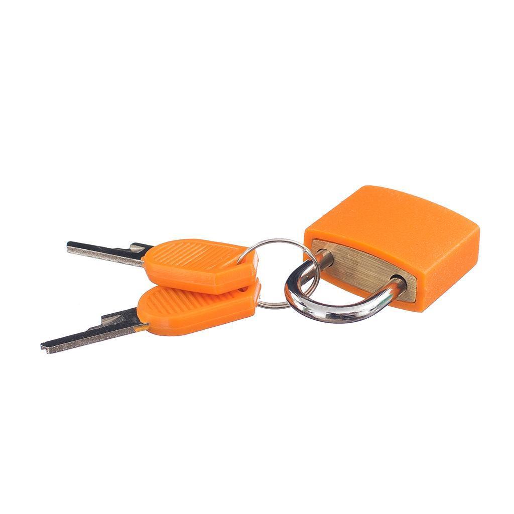 miniatura 18 - Lucchetto Piccolo Blocco Con 2 Chiavi Per Bagaglio Valigia Ventiquattrore