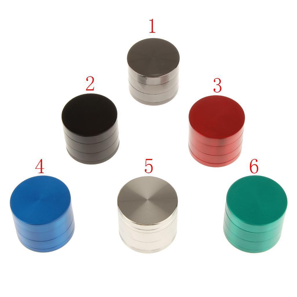 4-Strati-Di-Tabacco-Metallo-Frantoio-Di-Erbe-Smerigliatrice-Grigio miniatura 2