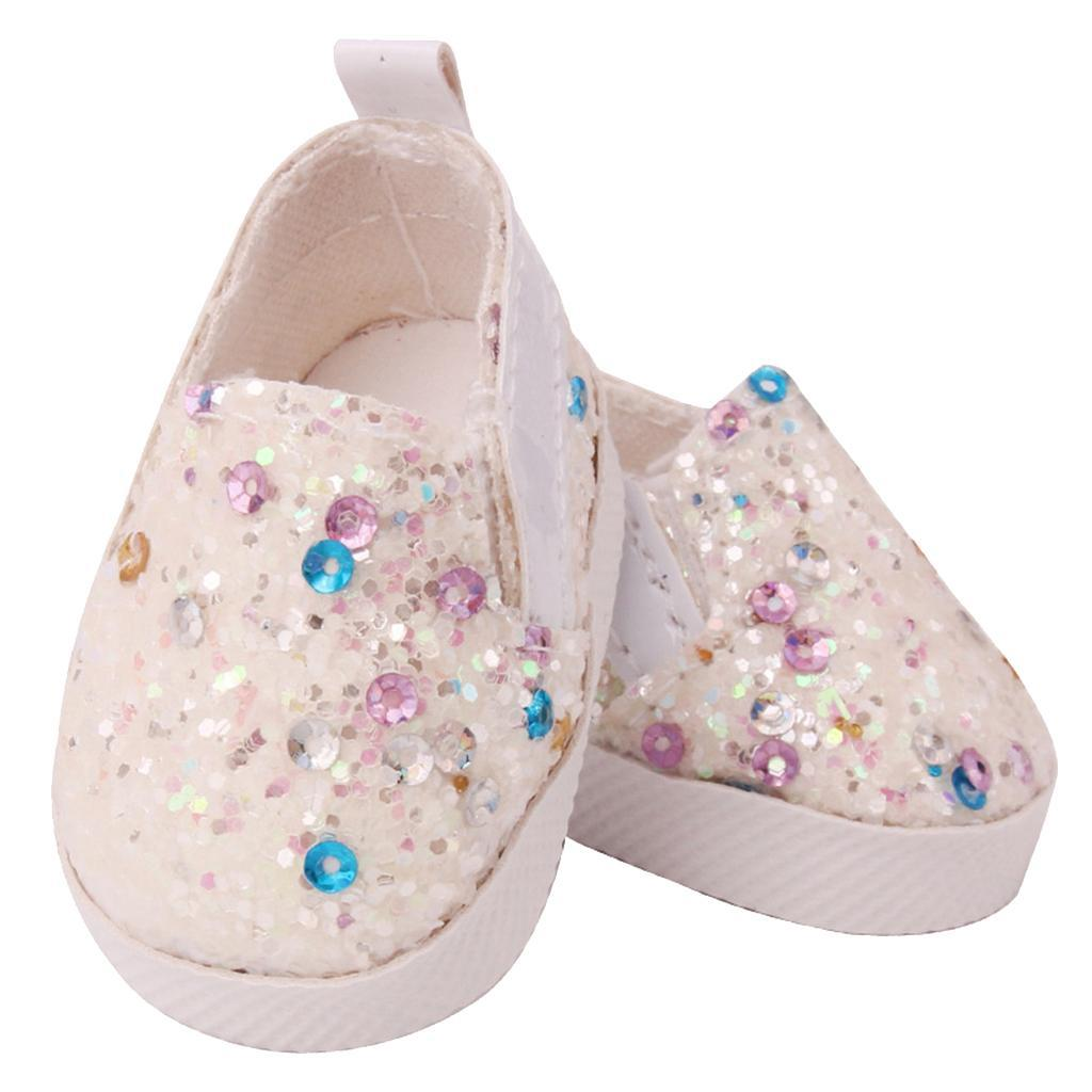 Stylish Lace-up Flat Rabbit Design Shoes for 14.5inch Mellchan Doll Decor