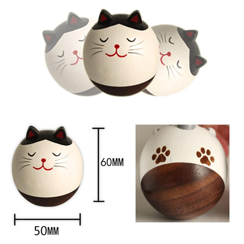 Wooden-Tumbler-Craft-Wood-Animal-Figure-Toy-Office-Desk-Decor-Ornament thumbnail 21