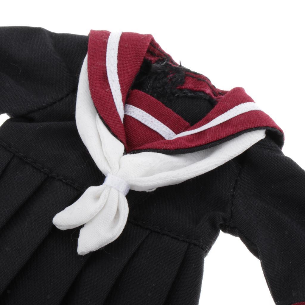 School Uniform Dress for 1//6 Blythe BJD Licca Azone Girl Dolls Accessory