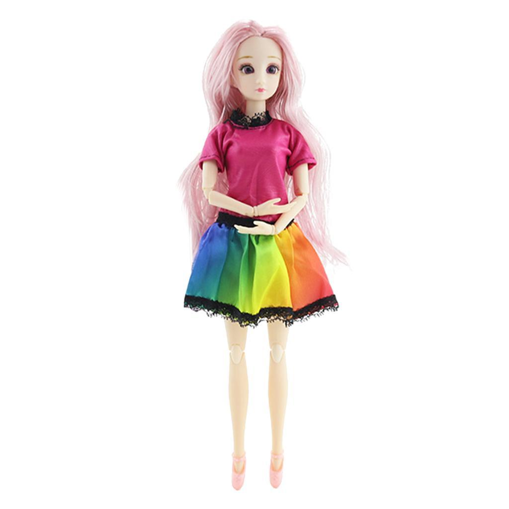 20-Ball-Joint-Dolls-3D-Eyes-w-Outfit-Fashion-Cute-Girl-Xmas-Gifts-White-Toy thumbnail 12