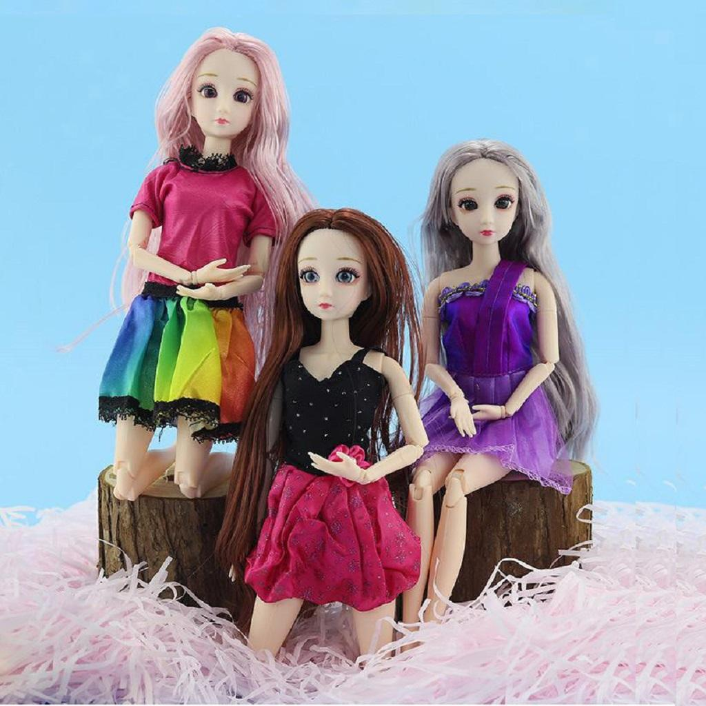 Ball-Jointed-Girl-Dolls-3D-Eyes-with-Clothes-Shoes-Fashion-Gifts-White-Toy thumbnail 12