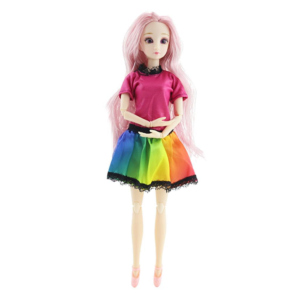 20-Ball-Joint-Dolls-3D-Eyes-w-Outfit-Fashion-Cute-Girl-Xmas-Gifts-White-Toy thumbnail 13