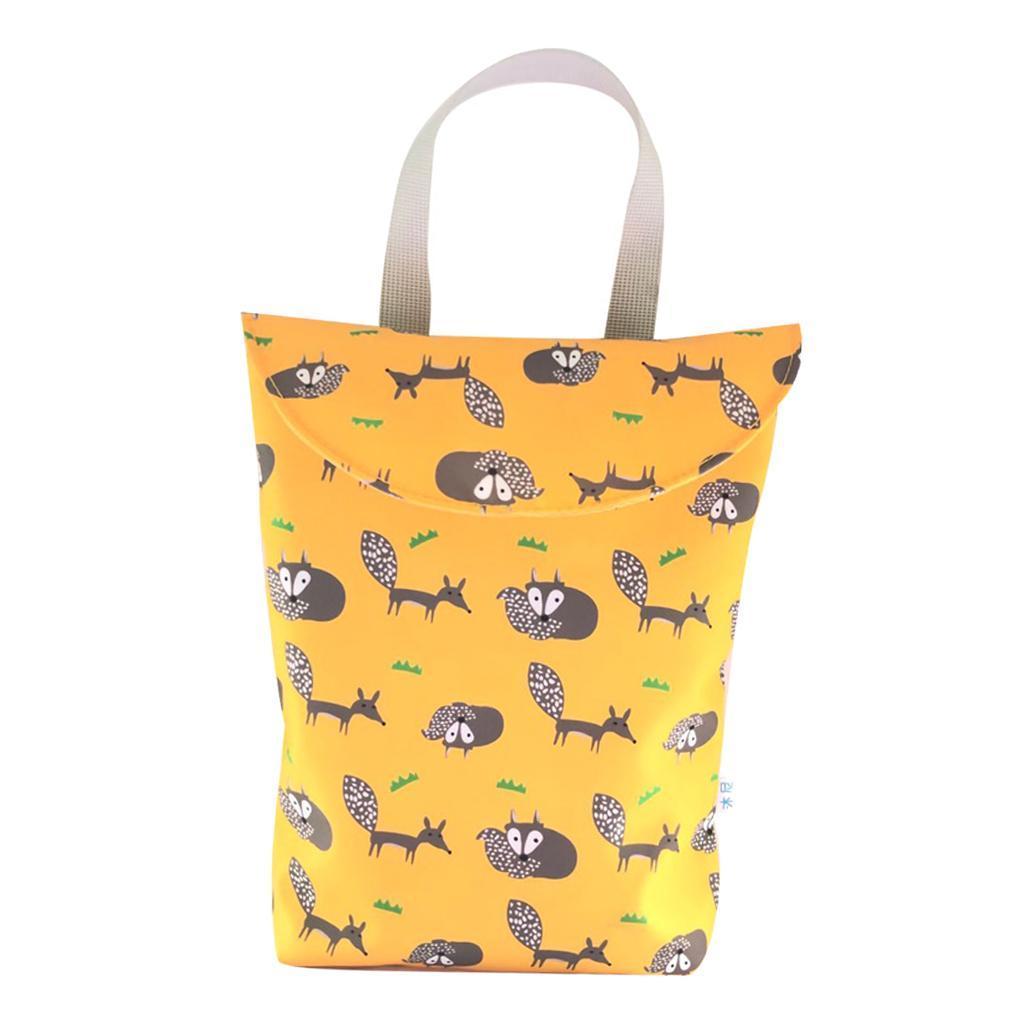 Baby-Diaper-Bag-Organizer-Fashion-Prints-Mummy-Storage-Bag-Outdoor-Reusable miniature 4