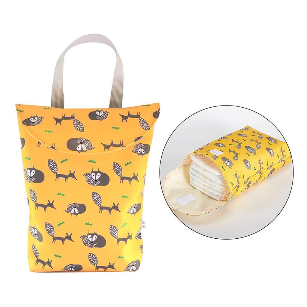 Baby-Diaper-Bag-Organizer-Fashion-Prints-Mummy-Storage-Bag-Outdoor-Reusable miniature 5