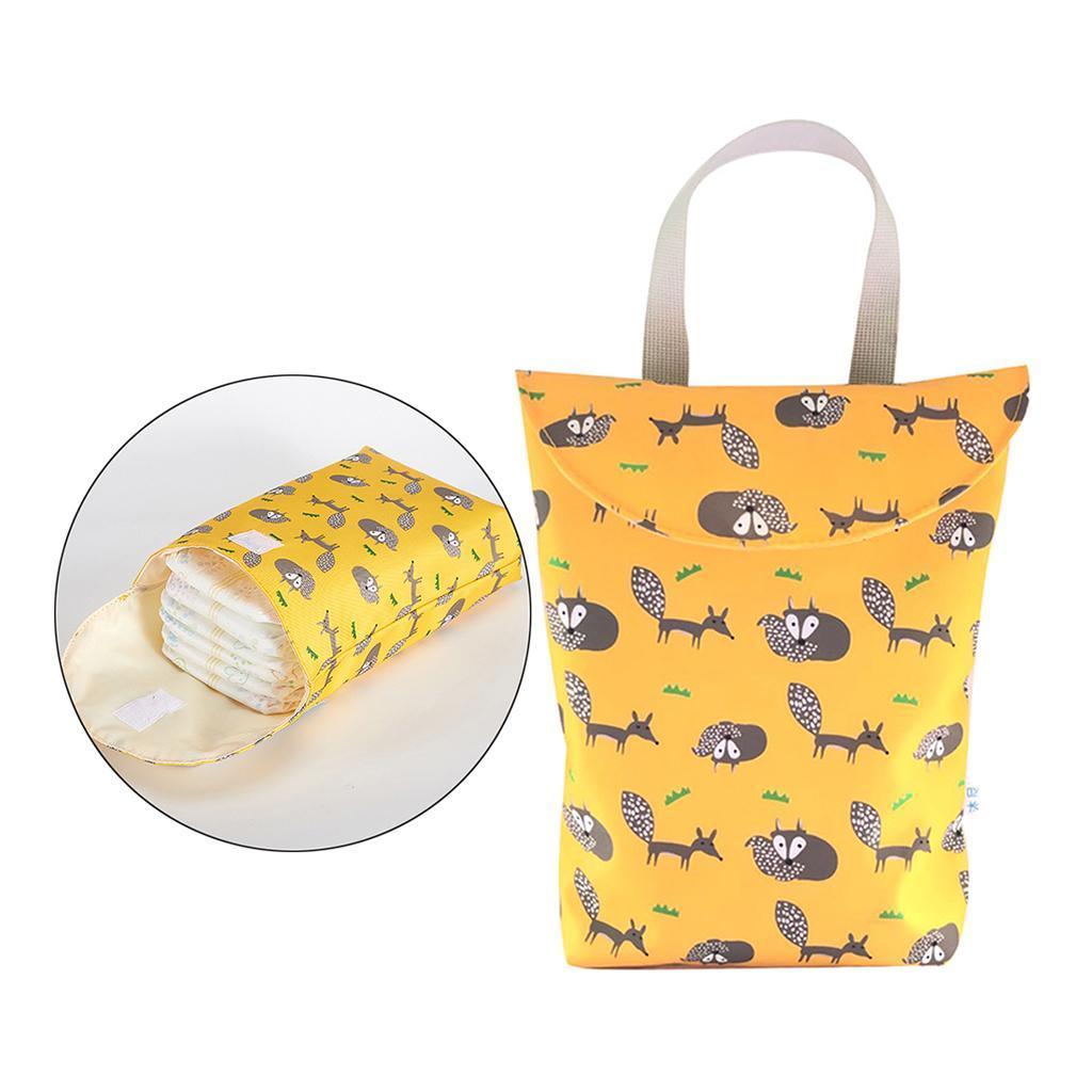 Baby-Diaper-Bag-Organizer-Fashion-Prints-Mummy-Storage-Bag-Outdoor-Reusable miniature 6