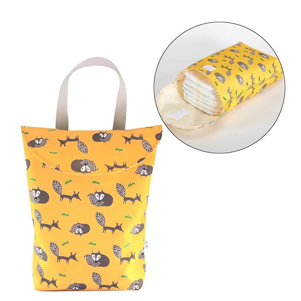 Baby-Diaper-Bag-Organizer-Fashion-Prints-Mummy-Storage-Bag-Outdoor-Reusable miniature 7
